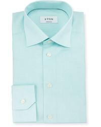 Contemporary fit textured woven dress shirt mint medium 615065