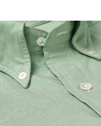 Drakes Drakes Slim Fit Slub Cotton Oxford Shirt