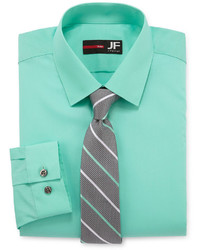 JF J.Ferrar Jf J Ferrar Dress Shirt And Tie Set Slim Fit