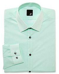 jcpenney Jf Jferrar Jf J Ferrar Solid Dress Shirt Slim Fit