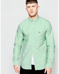 Lacoste Oxford Shirt In Green Regular Fit
