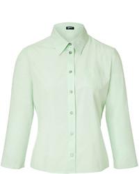 Jil Sander Navy Stretch Cotton 34 Sleeve Shirt