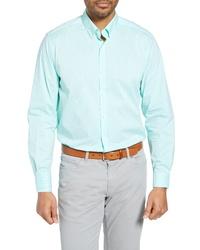 Cutter & Buck Soar Classic Fit Windowpane Check Sport Shirt