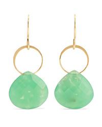 Melissa Joy Manning 14 Karat Gold Chrysoprase Earrings
