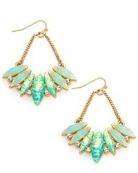 Bar III Gold Tone Mint Stone Chandelier Earrings