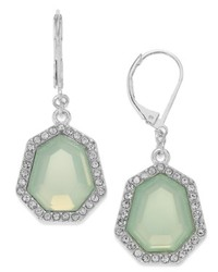 Charter Club Silver Tone Mint Stone Drop Earrings