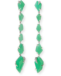Alexis Bittar Fine Chrysoprase Linear Kite Earrings Mint