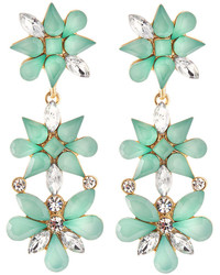 Lydell NYC Floral Double Drop Earrings Mintgolden