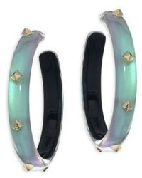 Alexis Bittar Lucite Studded Hoop Earrings2