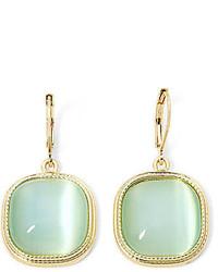 jcpenney Monet Jewelry Monet Mint Gold Tone Drop Earrings