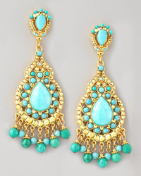 Jose & Maria Barrera Turquoise Statet Earrings