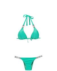 Amir Slama Embellished Triangle Top Bikini Set
