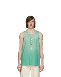 Lanvin Green Dyed Bell Shirt