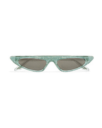 Andy Wolf Florence Crystal Embellished Cat Eye Acetate Sunglasses
