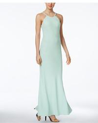 Calvin Klein Open Back Halter Gown