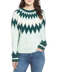 Mint Fair Isle Crew-neck Sweater