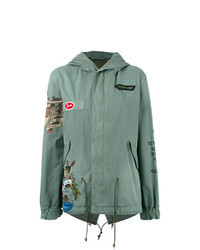 Mint Fishtail Parka