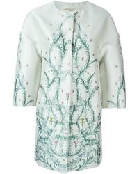 Giambattista valli floral jacquard coat medium 565908
