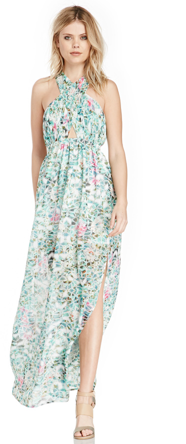 Lovers + Friends Floral Flashback Maxi Dress In Green Xs M | Where ...
