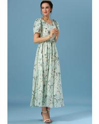 V neck florals chiffon maxi dress medium 314387