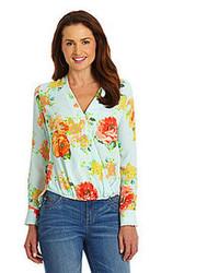 Latimer floral infinity blouse medium 58858
