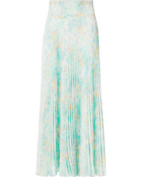 Prada Floral Print Pleated Skirt