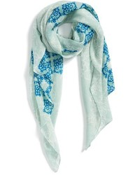 Evelyn K Lacy Floral Number Print Scarf