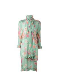 Christian Dior Vintage Scarf Floral Print Dress
