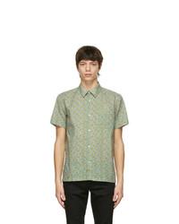 A.P.C. Green Printed Short Sleeve Shirt