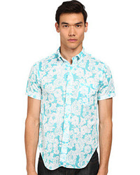 Mark McNairy New Amsterdam Short Sleeve Floral Print Button Down Short Sleeve Button Up