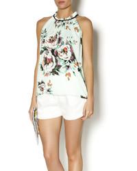 Mint floral top medium 289986