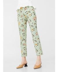 Mango Geometric Print Pants