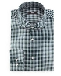 Mint Gingham Dress Shirt