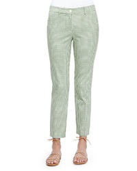 Michael Kors Michl Kors Collection Gingham Check Ankle Pants Lawn
