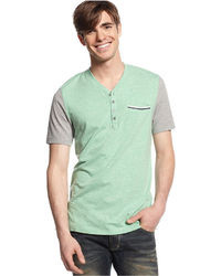 INC International Concepts Hickory Henley T Shirt