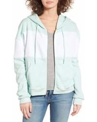 Wildfox blocked marquis front zip hoodie medium 6991668