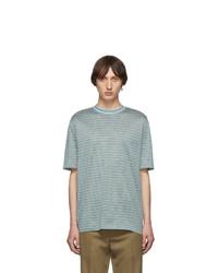 Lanvin Green Striped T Shirt