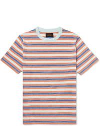 Beams Plus Striped Cotton Jersey T Shirt