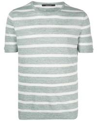 Tagliatore Striped Linen T Shirt