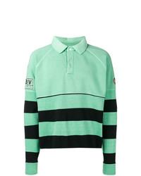 C.E Striped Long Sleeve Polo Top