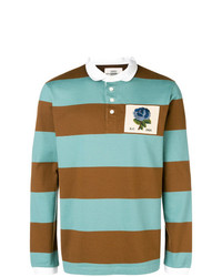 Kent & Curwen Striped Longsleeved Polo Shirt