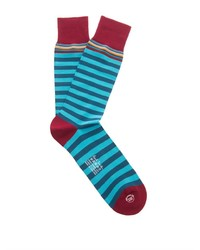 PAUL SMITH SHOES & ACCESSORIES Striped Cotton Blend Socks