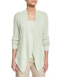 Angled front organic linen jacket petite medium 4471692
