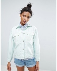 Waven karin pastel oversized denim jacket medium 3764557