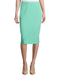 Ming Wang Knit Pencil Skirt Seas