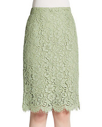 Dolce & Gabbana Scalloped Lace Pencil Skirt
