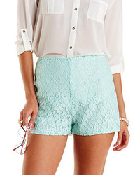 Lace high waisted shorts medium 271837