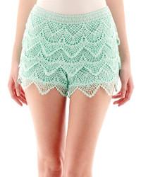 jcpenney Rewind Rewind Tiered Crochet Shorts