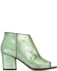Mint Leather Ankle Boots