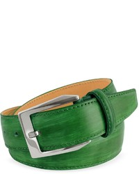 Pakerson Green Hand Painted Italian Leather Belt